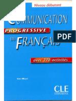 Communication Progressive Du Français- Niveau Debutant