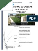 Informe de Galerias Filtrantes El Totoral