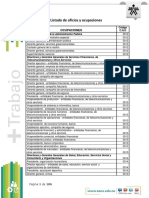 Listado de Oficios y Ocupaciones