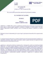 Colombia:Ley 134-94, sobre mecanismos de participación ciudadana.