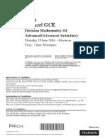June 2014 QP - D1 Edexcel