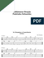 Oraçao Santo Daime+tablatura en DO y RE+acordes+escalas