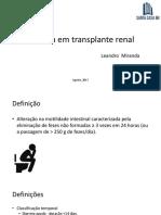 Diarreia Pós Transplante Renal