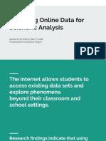 acquiring online data for scientific analysis