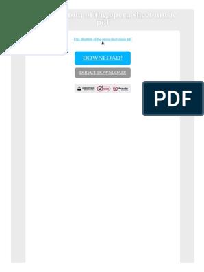 Free Phantom of the Opera Sheet Music PDF | Sheet Music | Opera