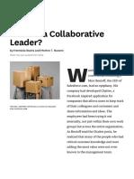 Are You a Collaborative Leader?