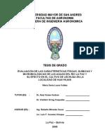 EVALUACIÓN DE LAS CARACTERISTICAS FÍSICAS, QUÍMICAS Y MICROBIOLÓGICAS DE LAS AGUAS DEL RÍO LA PAZ