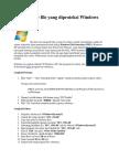 Cara Disable File Yang Diproteksi Windows