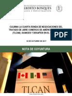 18-10-17 Culmina la cuarta ronda de negociaciones del TLCAN
