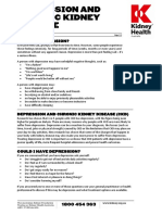 Depression and Chronic Kidney Disease Fact Sheet