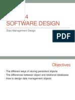 Data Management Design Update