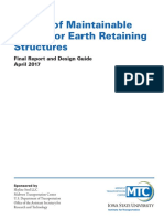 Maintainable Drains for Earth Retaining Structures
