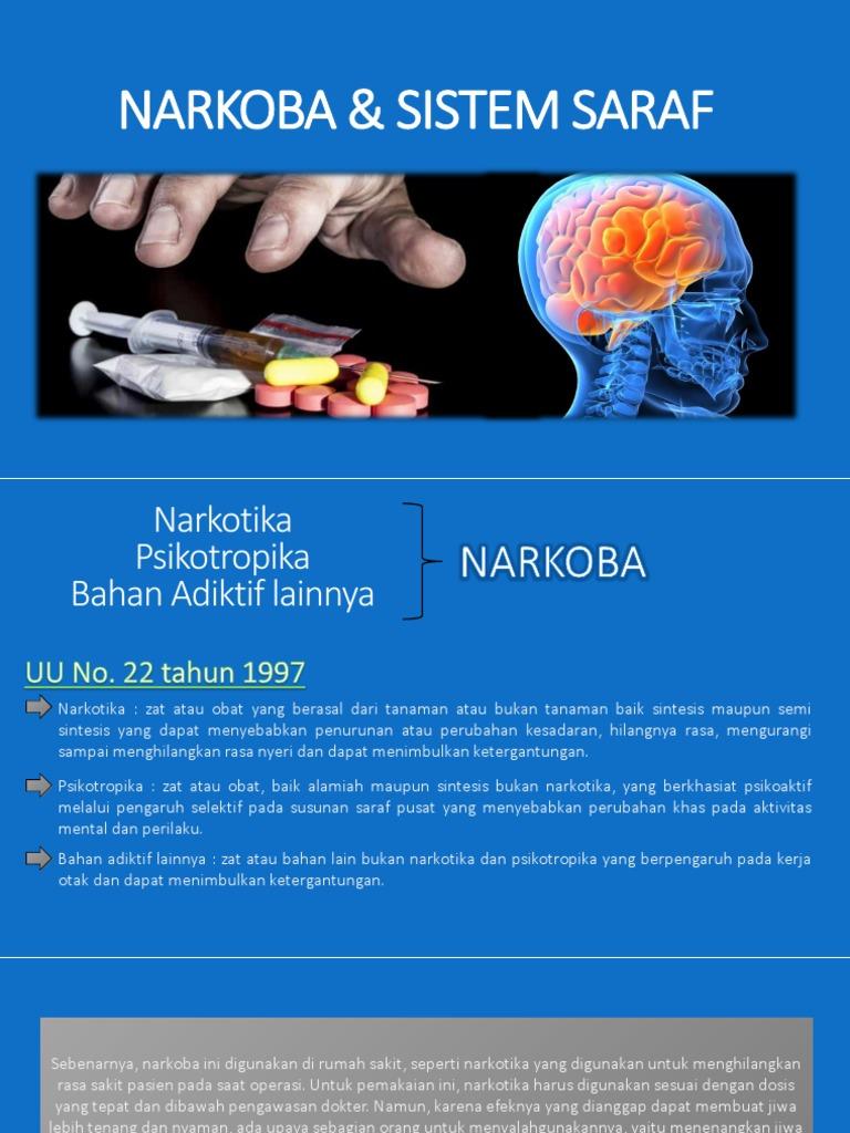 Pengaruh Narkoba Terhadap Sistem Saraf