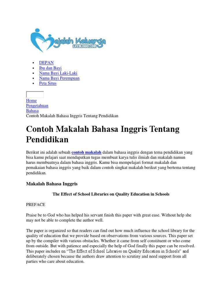 Best Karya Tulis Ilmiah Pendidikan Bahasa Inggris Image Collection