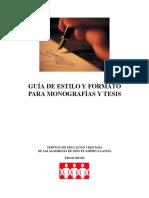 GuíaDeEstiloYFormatoParaMonografíasYTesis,201201 MONOGRAFIA