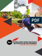 Brochure FIPU, Federación Internacional de Prensa de los Pueblos