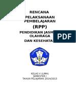 RPP Penjas SD Kurikulum 2013 Kelas V Sem 1