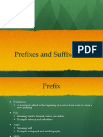 prefixes and suffixes powerpoint for methods of teaching language arts spring 2016