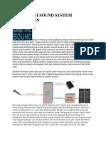 Teknologi Sound System Masa