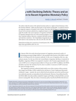 Monetary Policy With Declining Deficits Theory and an Application to Recent Argentine Monetary Policy