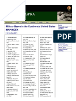 Military Bases in the Continental US Map Index