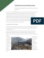 Contaminacion Ambiental en El Valle Del Mantaro