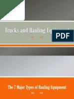 Trucks and Hauling Equipment