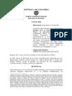 Corte Constitucional- Sentencia Río Atrato Como Sujeto de Derechos Mayo 2017