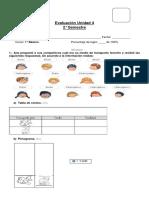 Prueba tablas y gráficos 1° básico