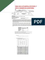 Tutorial Para Usa La Plantilla de Excel y Resolver El Examen de Auditoria