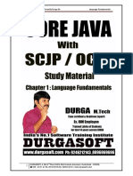 Core Java With SCJP OCJP Notes by Durga