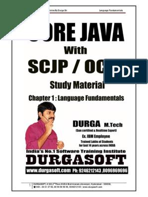 Core Java With SCJP OCJP Notes by Durga | Data Type | Array Data Type