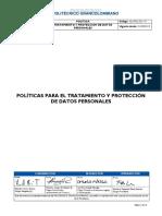 Tratamiento y Proteccion de Datos Personales