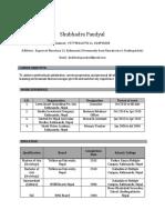 Shubhadra Paudyal CV