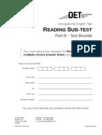 OET Reading Test 5 - Part B