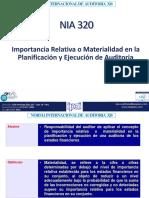 Nia 320 Importancia Relativa o Materialidad