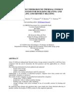 Analysis of 30 Underground Thermal Energy Storage Systems
