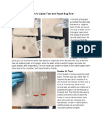 sudan iv lipids test and paper bag test
