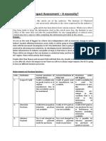GST Impact Assessment a Necessity