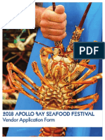 2018 Apollo Bay Seafood Festival - Vendor Information Pack