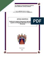Gestão da Logística Empresarial Aplicada ao Apoio - Artigo Cientifico