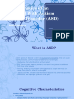 characteristics of an individual with asd