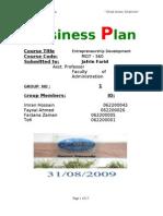 Busuness plan ( Restaurent)