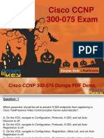 100% Passing Guarantee With Cisco 300-075 Dumps