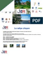 JNR 2017 OCTOBRE D 2017 - Présentation Rallye Citoyen