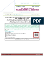 STUDY OF ANTI-OSTEOPOROTIC ACTION OF DRUGS FROM THE GROUP OF STATINS