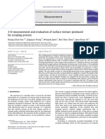 3-D Measurement and Evaluation of Surface Texture Produced