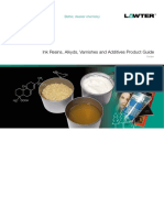 Lawter Ink Resins, Alkyds, Varnishes and Additives Product Guide