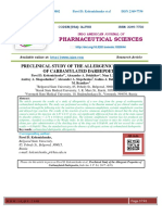PRECLINICAL STUDY OF THE ALLERGENIC PROPERTIES OF CARBAMYLATED DARBEPOETIN