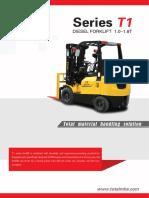 T1 Series Diesel Forklift 1.0-1.8T